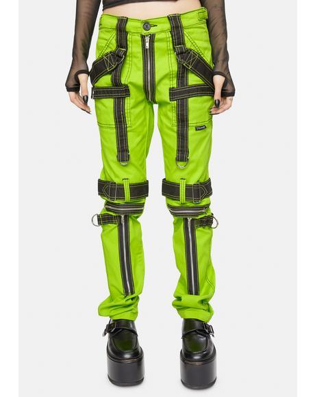 Lime Para Pants