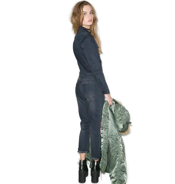 Courtshop Bailey Denim Jumpsuit