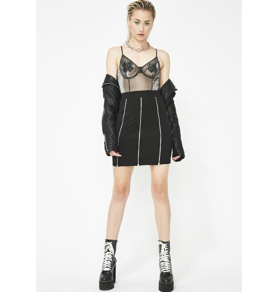 Lust For Luster Zip Mini Skirt