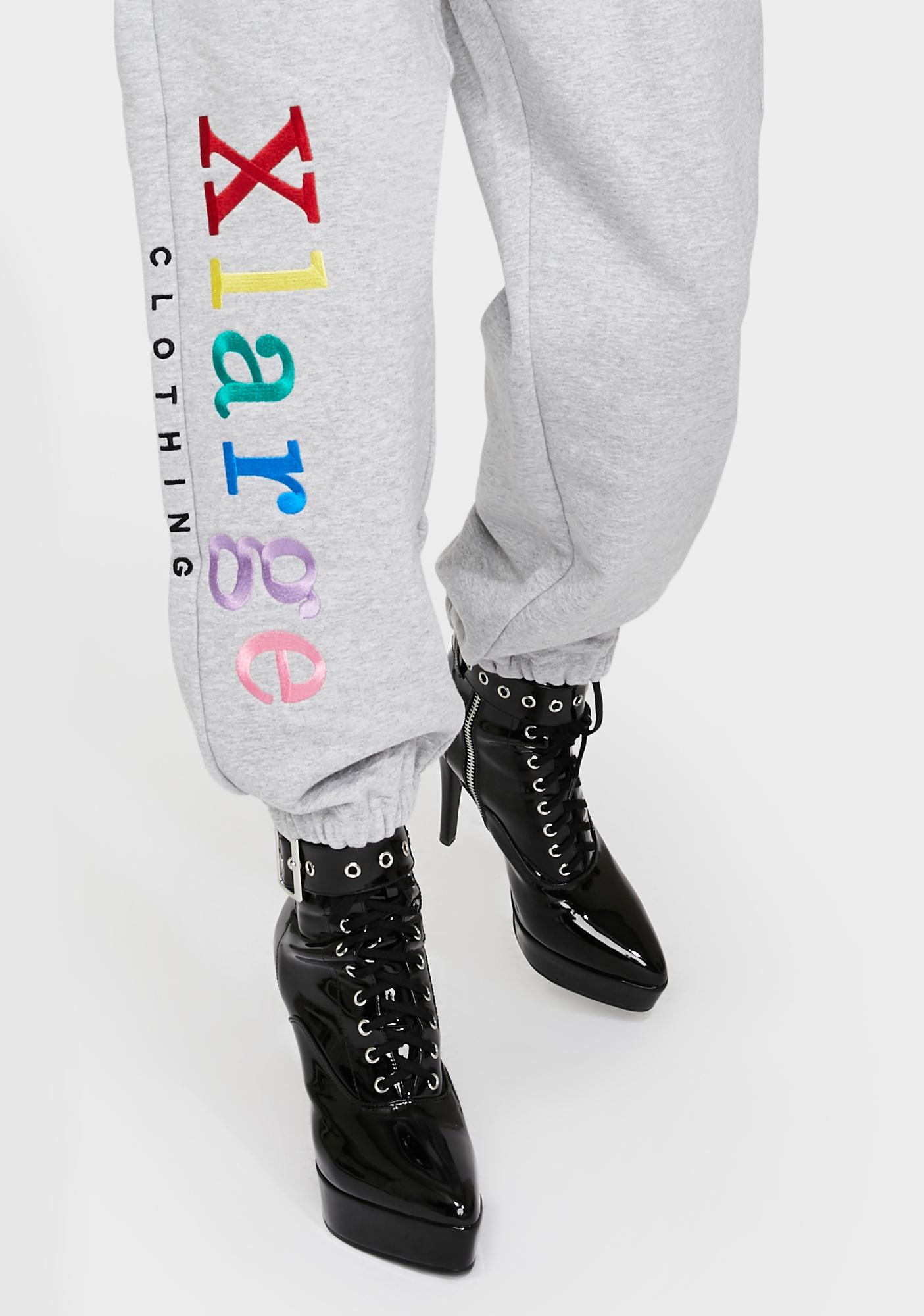 XLARGE Colorchart Embroidered Sweatpants
