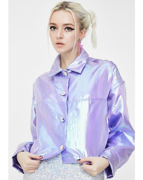 Lilac Fairy Dust Iridescent Jacket