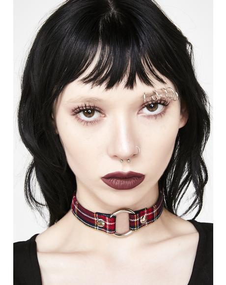 Junior Dropout Plaid Choker