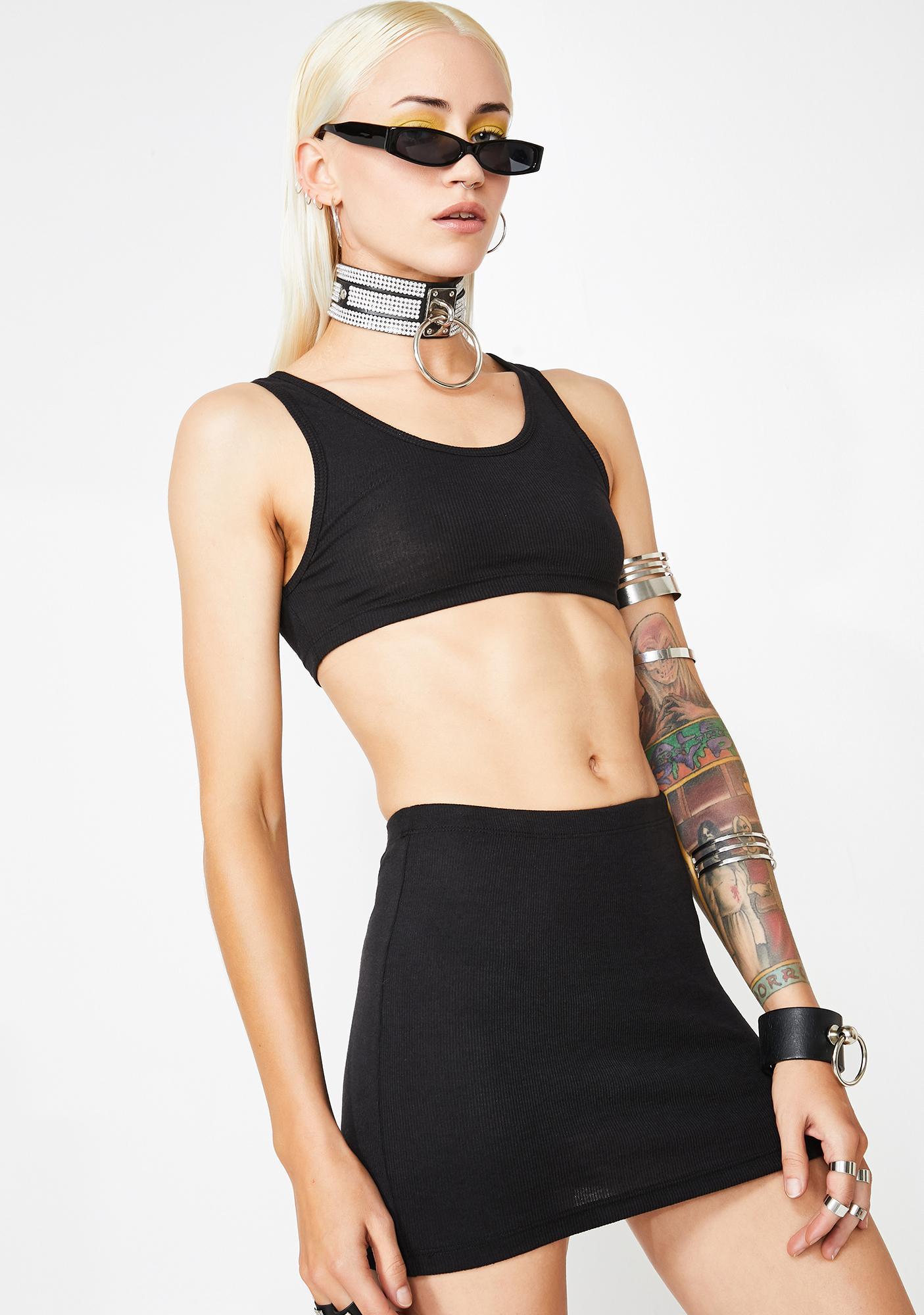 Kiki Riki Darkwave Disco Skirt Set
