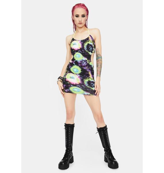 Galactic Lover Tie Dye Mini Dress
