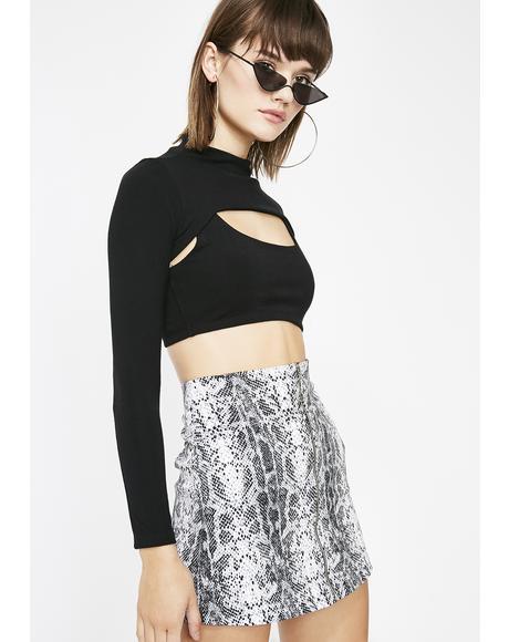 Slitherin' Hottie Snakeskin Skirt
