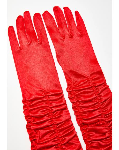Still The One Satin Gloves