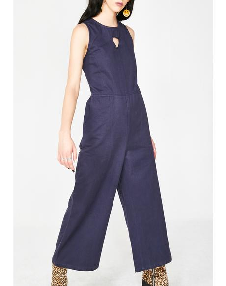 Heart Cut Out Jumpsuit