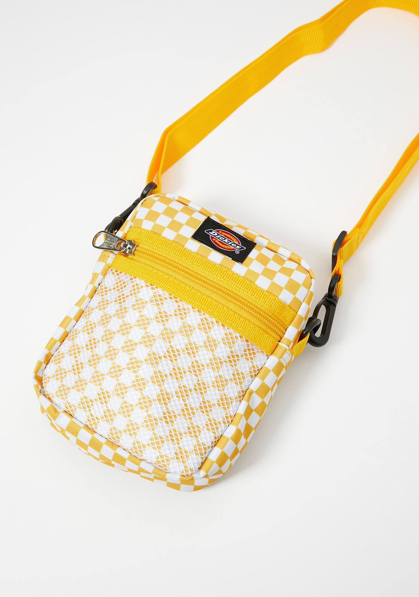 Dickies Yellow Checkered Crossbody Bag