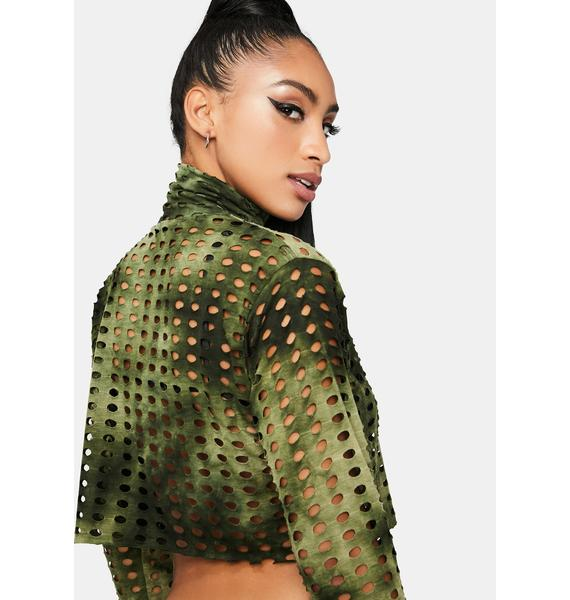Olive Made To Order Crop Top