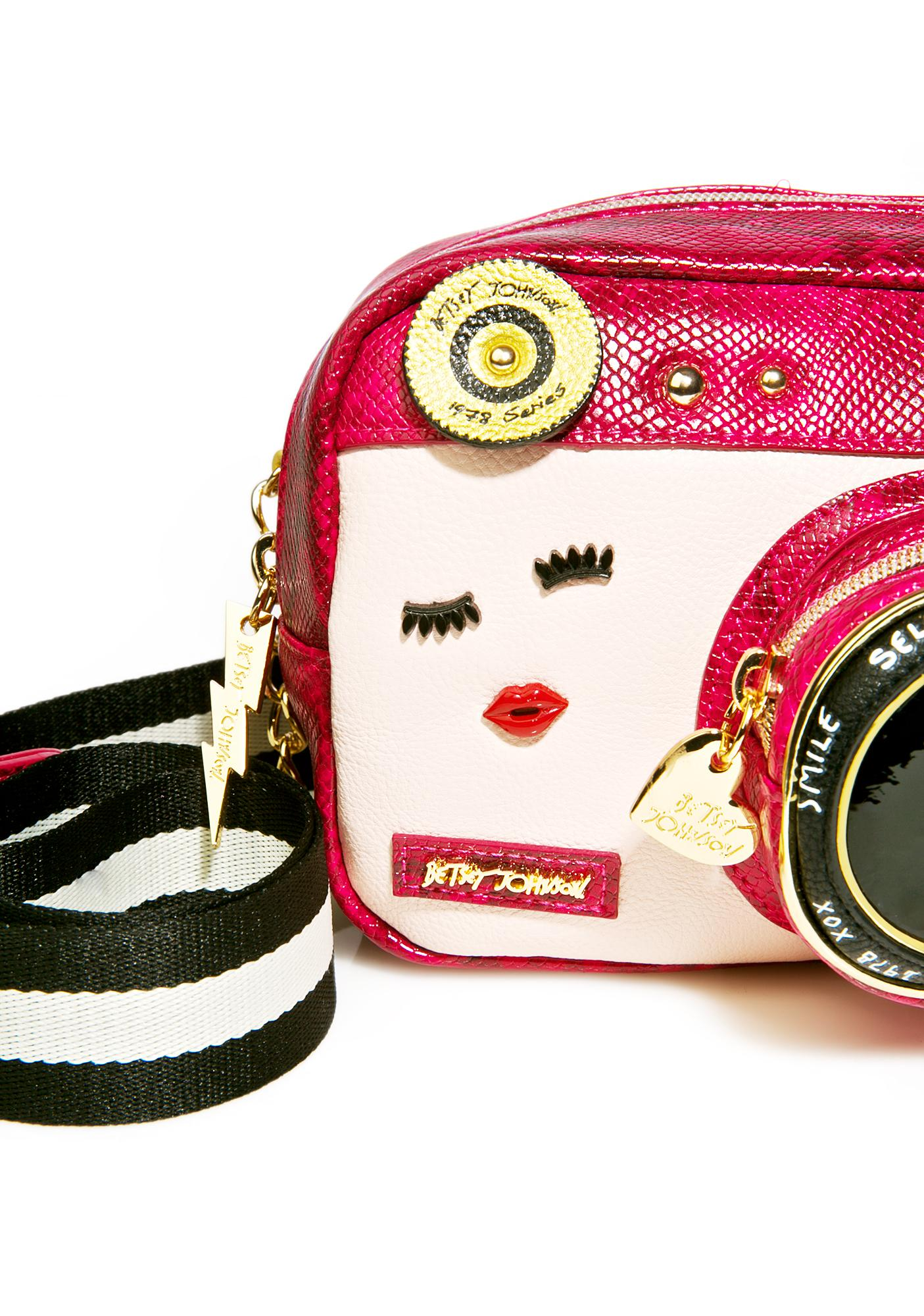 Betsey Johnson Close Up Crossbody Bag