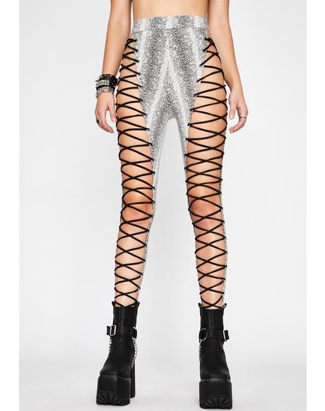 Diabolical Bite Lace-Up Leggings