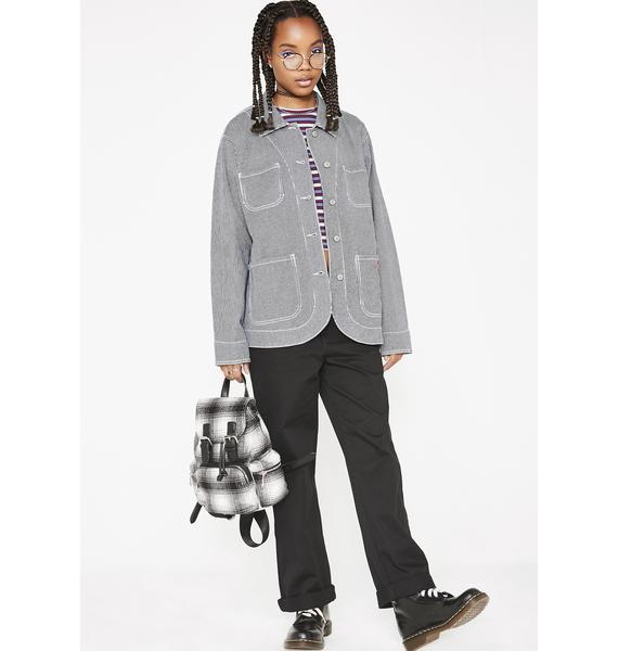 Dickies Girl Hickory Stripe Chore Jacket