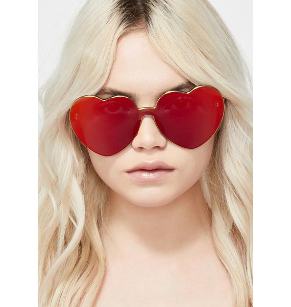 Cherry Diet Dew Heart Sunglasses