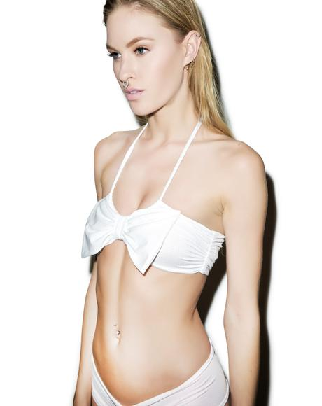 Dreamy Bow Halter Bandeau Top