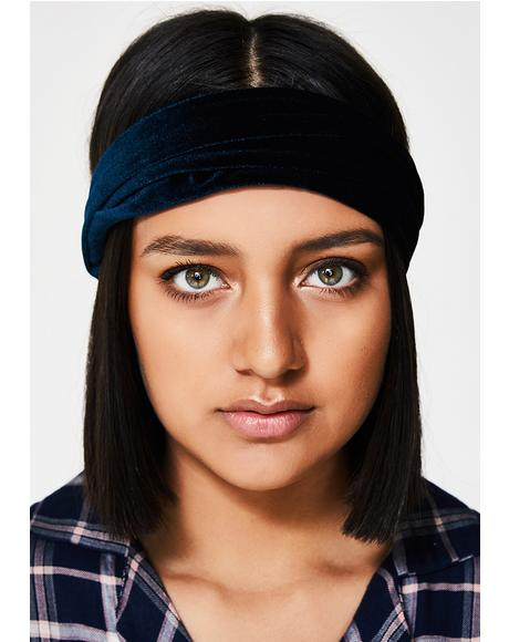 Midnight Darling Velvet Headband