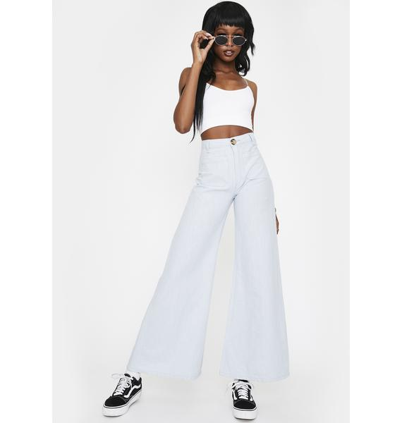 Rollas Super Sailor Ramie Flared Pants