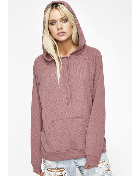 Just Wanna Laze Thermal Hoodie
