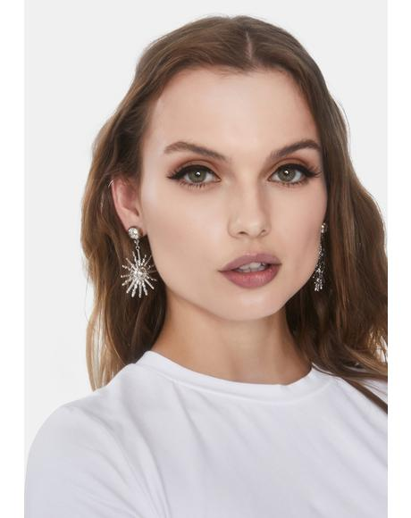Burst Of Light Drop Earrings