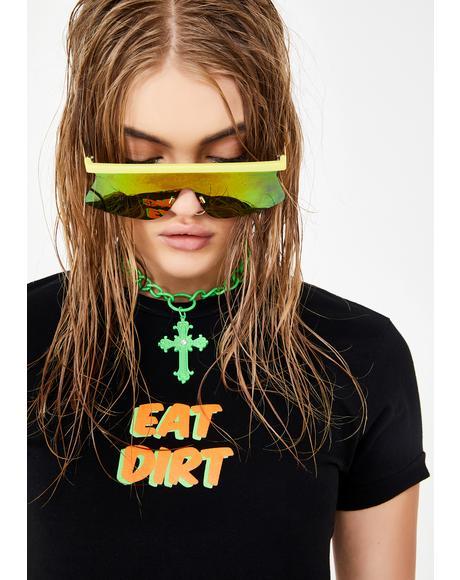Eat Dirt Ringer Tee