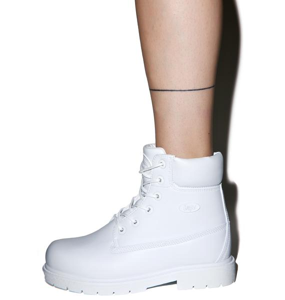 Lugz All White Shifter Boots