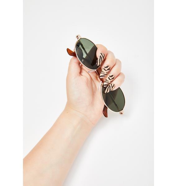 Rave Nailz Untamed Tiger Acrylic Nails