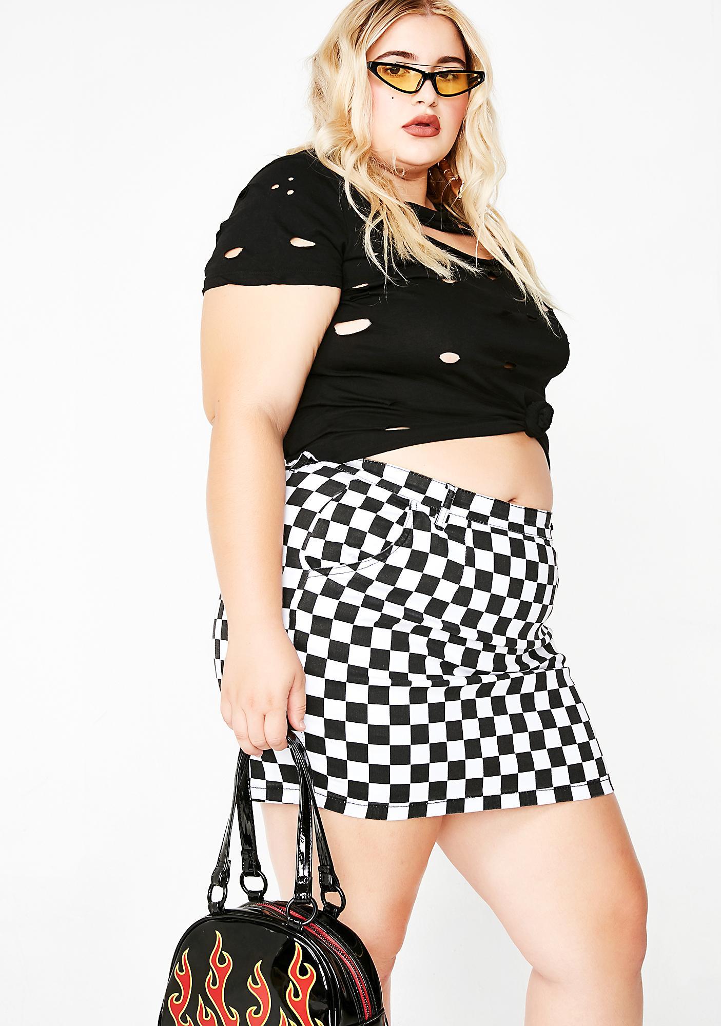 Cheeky Check Mini Skirt
