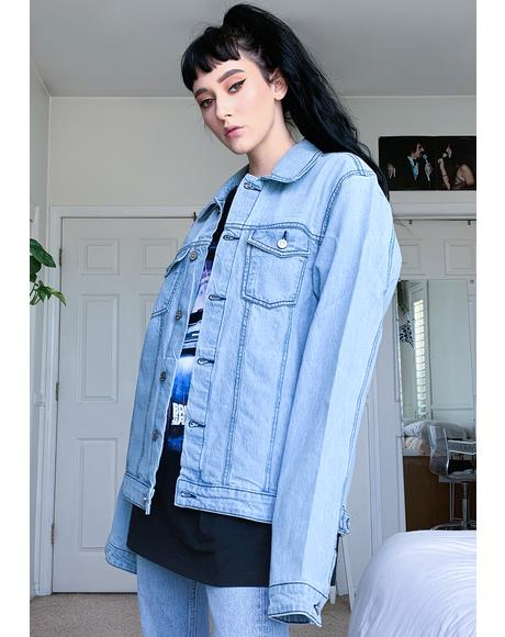 X Back To The Future Poster Denim Jacket