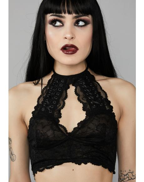 Sorrow Solitude Lace Bra