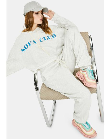 Heather Grey Couch Club Sweatpants