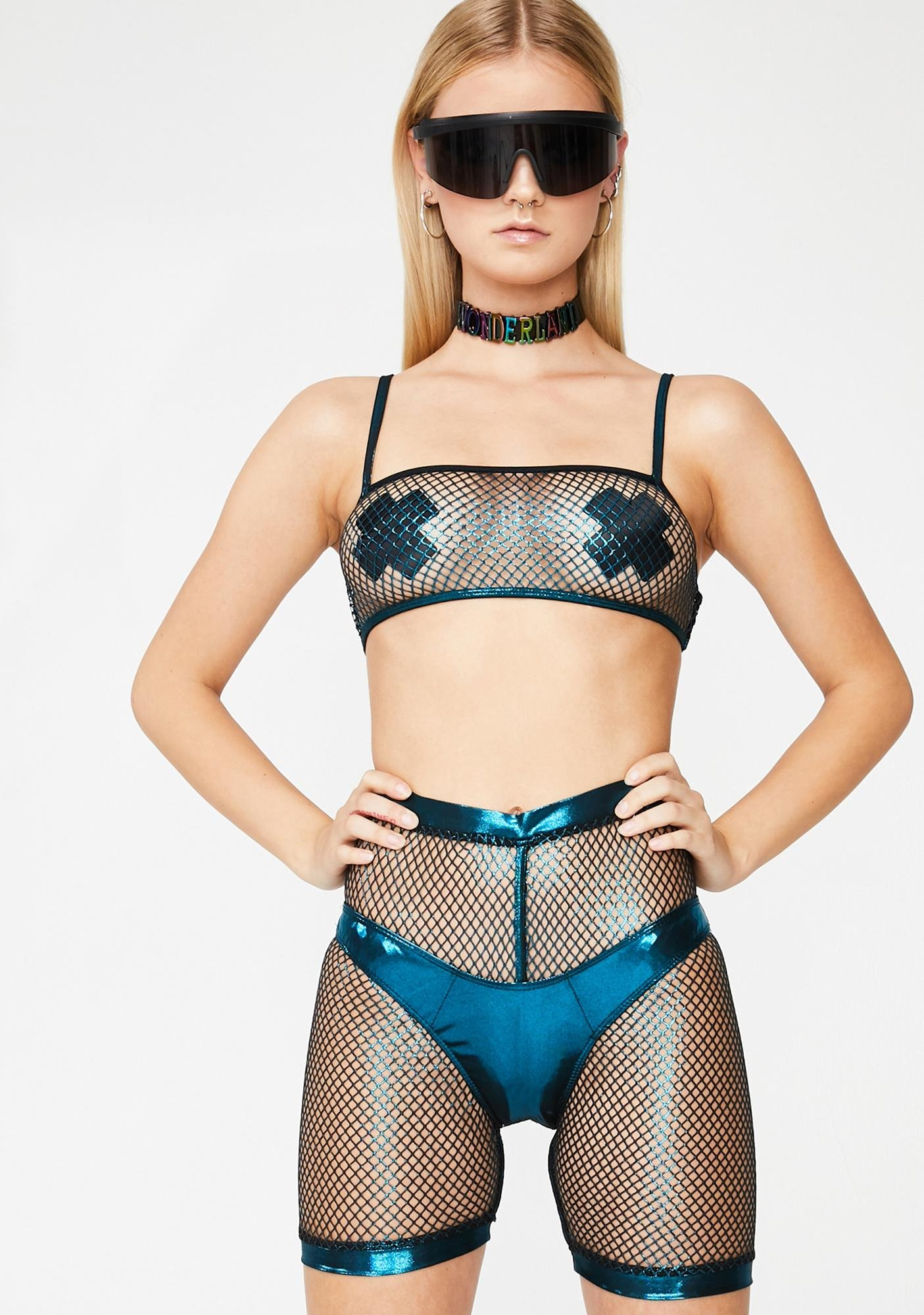 Club Exx Sonic Worship Bikini N' Shorts Set