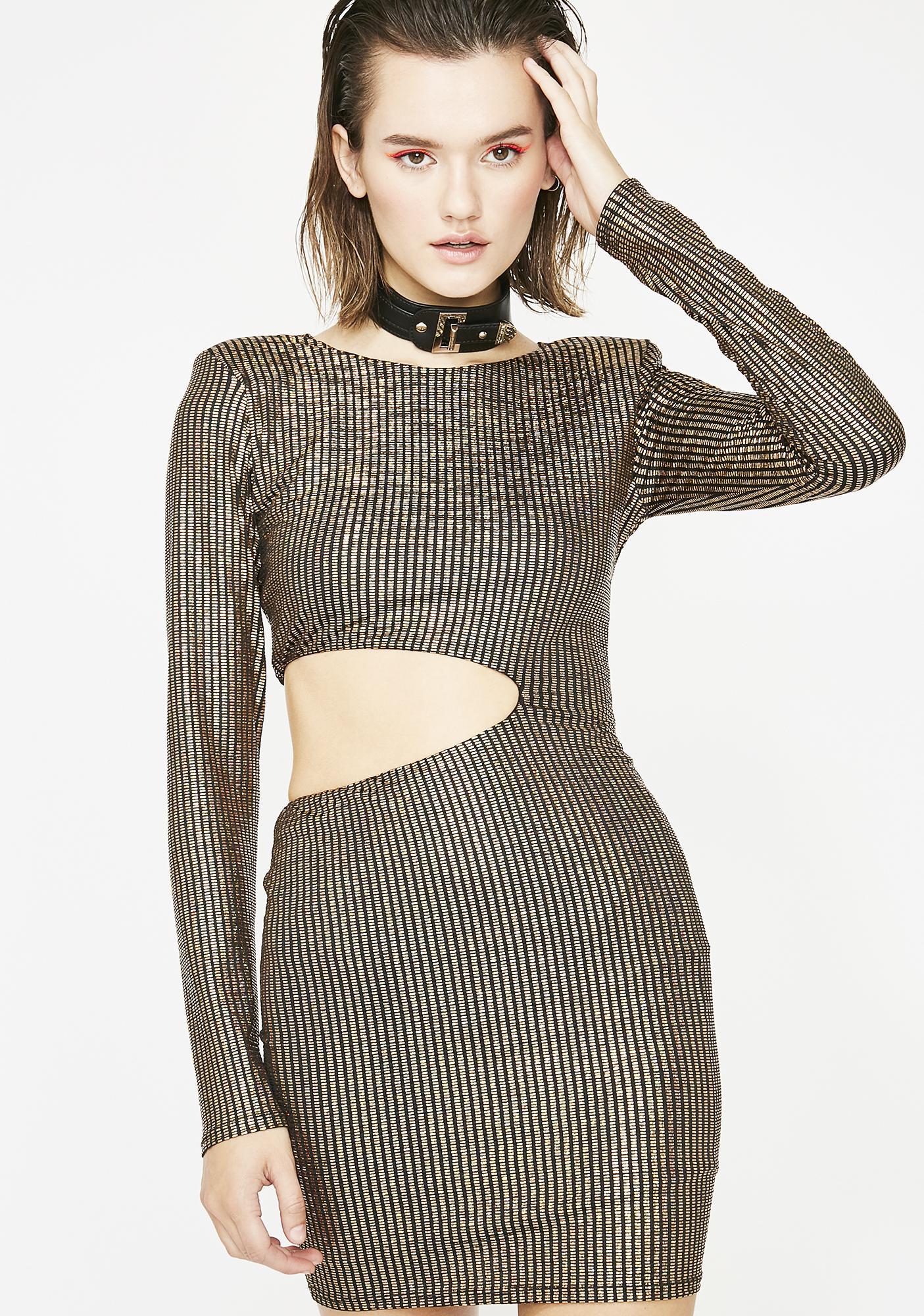 35da2a80bd6a Long Sleeve Bodycon Mini Cut Out Dress