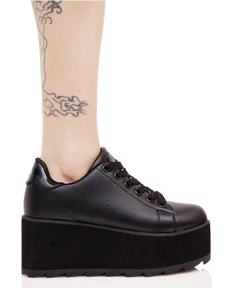 Black Lala Platform Sneakers