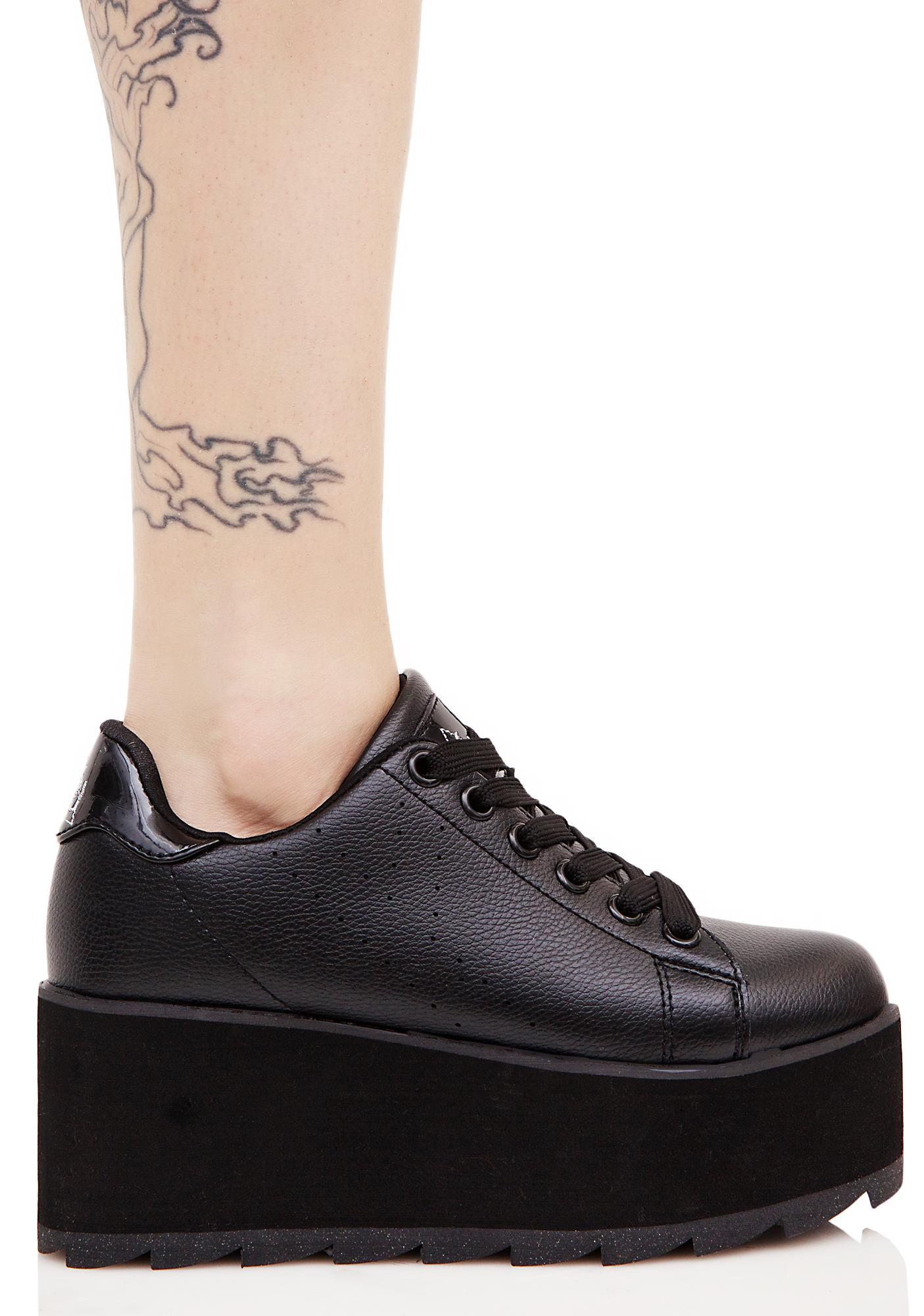 Y.R.U. Black Lala Platform Sneakers