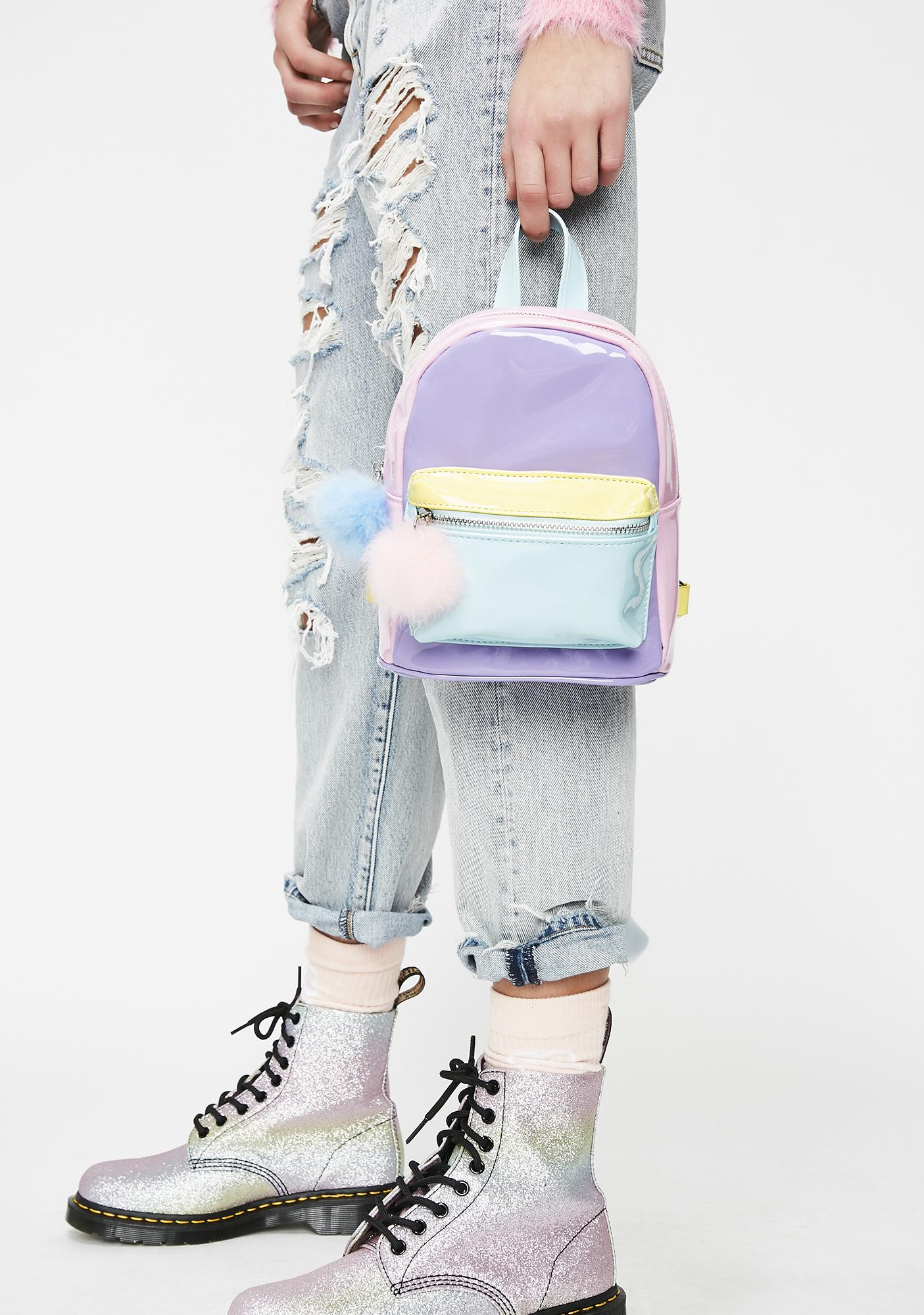 Sugar Thrillz Melted Sherbert Color Block Backpack