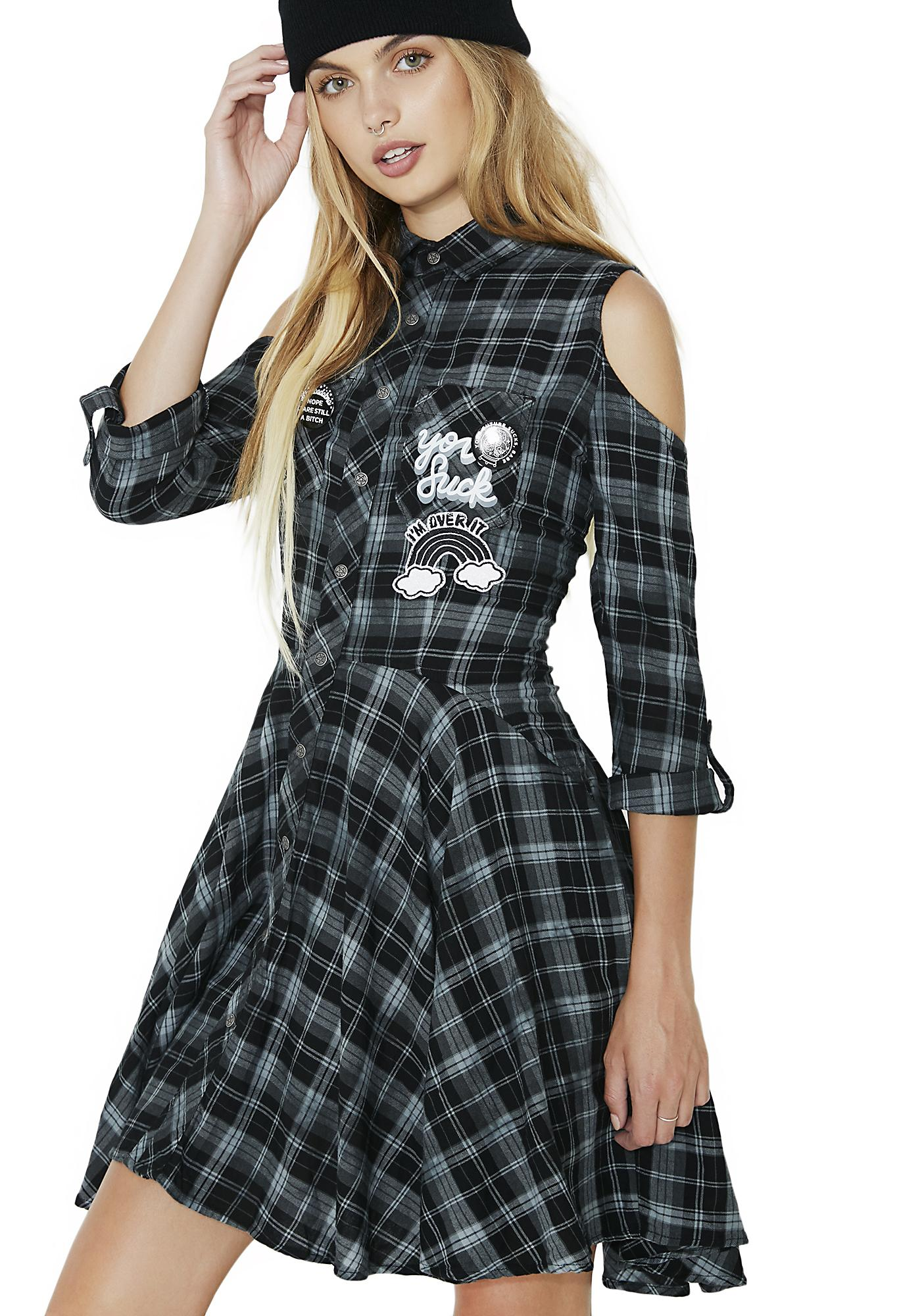 Killstar Polly Woven Shirt-Dress