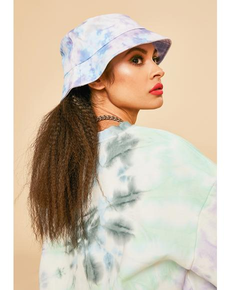 Gem Self Portrait Tie Dye Bucket Hat