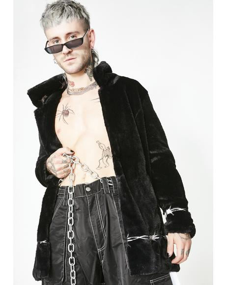 Dangerously Wired Faux Fur Jacket