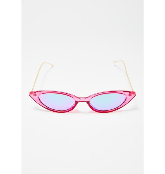 Pink Ladies Cat Eye Sunglasses
