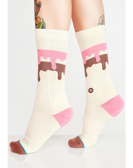 Melt Down Crew Socks