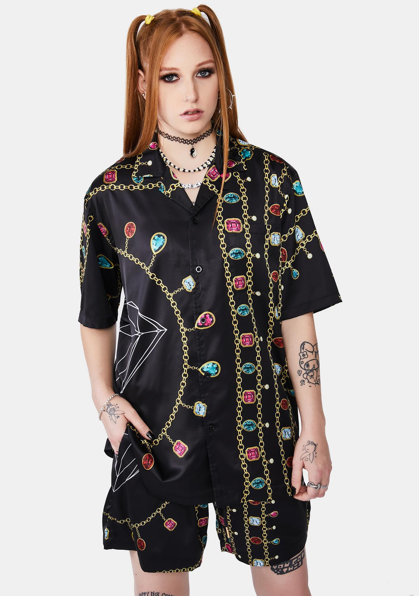 Diamond Supply Co Diamond Chain Button Up Shirt