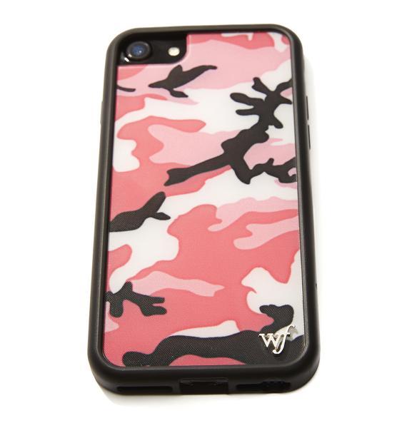 Wildflower Pink Camo IPhone Case