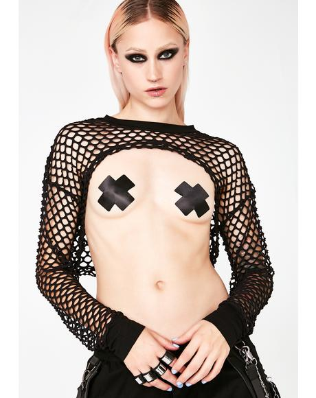 Night Roadster Fishnet Shrug