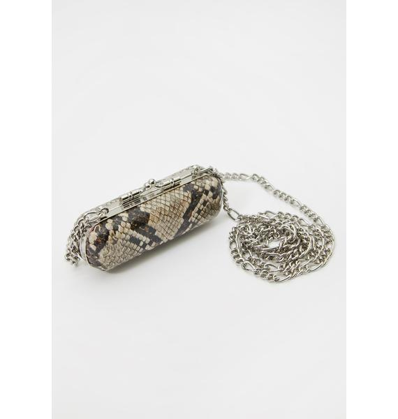 Poisonous Pout Snakeskin Bag
