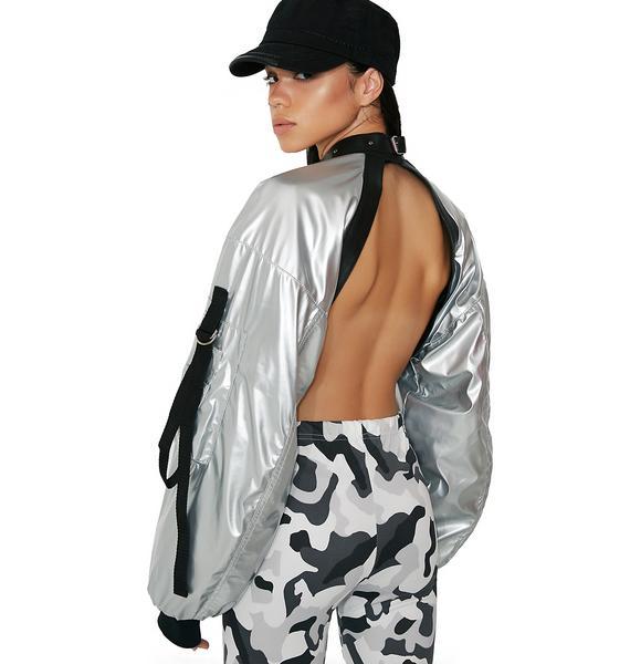Namilia Leather Chain Bomber