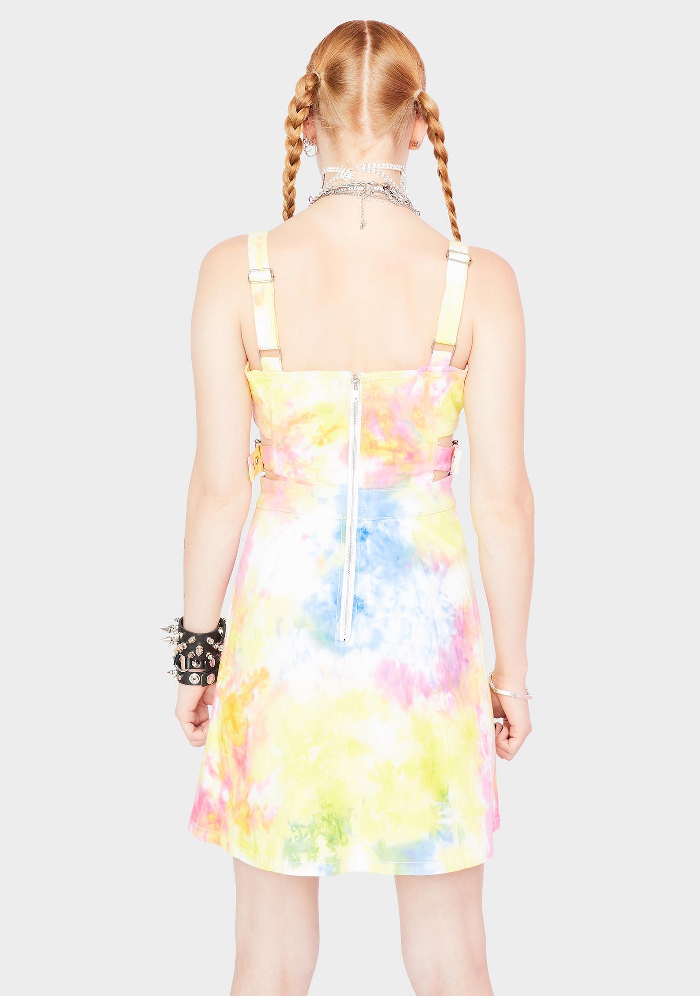 Tripp NYC Tie Dye Side Cut Out Dress