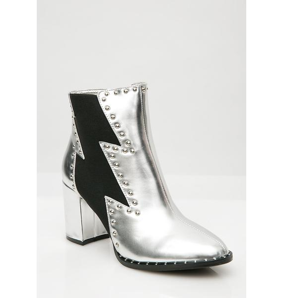 Feel The Electricity Ankle Boots