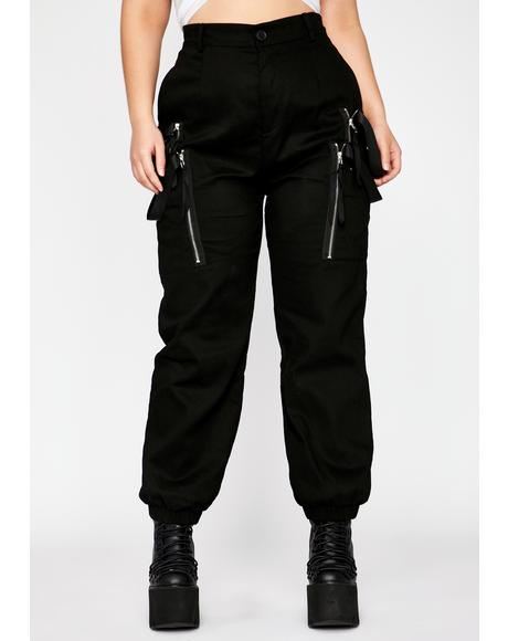 Her Midnight Smoke Break Cargo Pants
