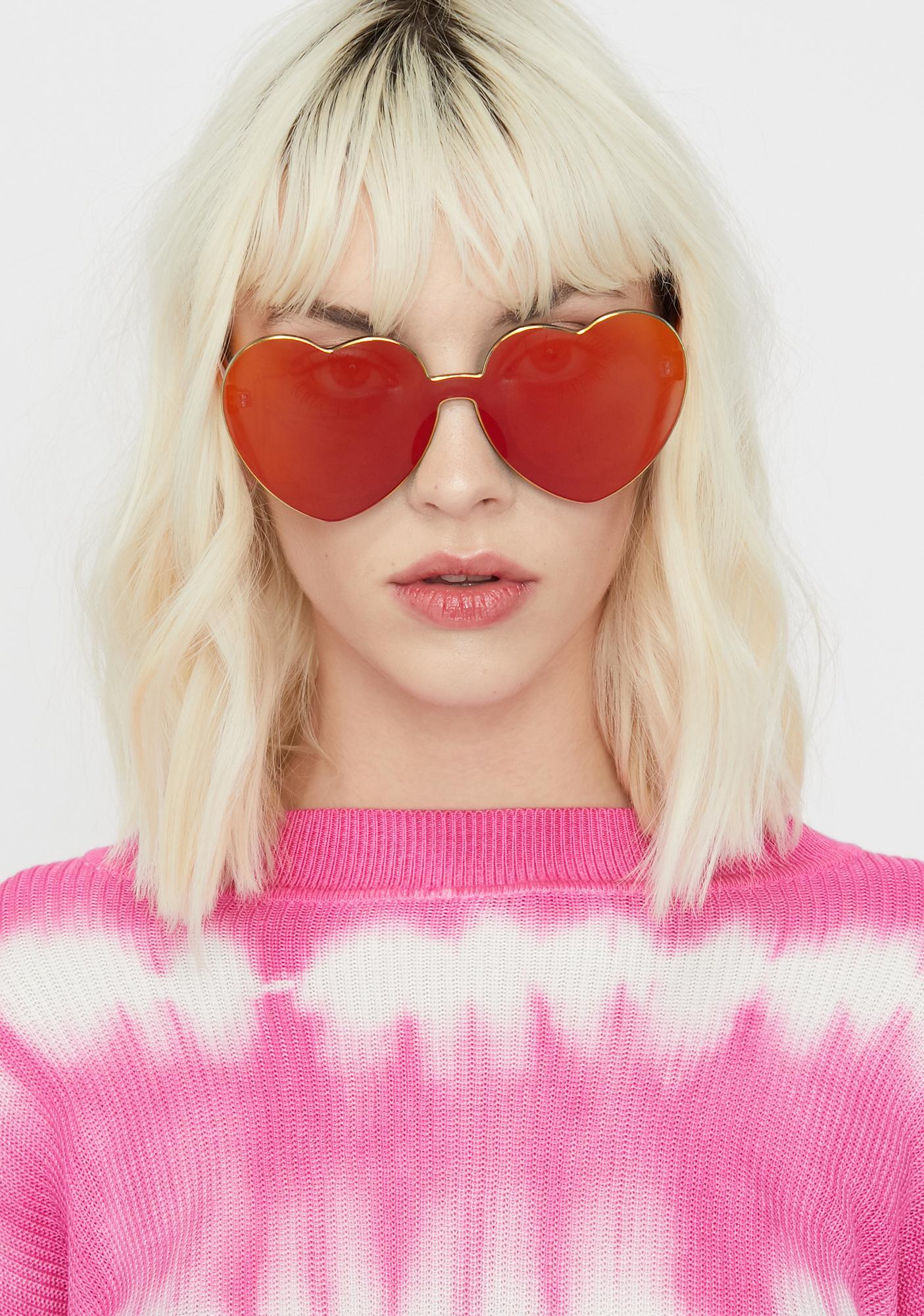 Diet Dew Heart Sunglasses