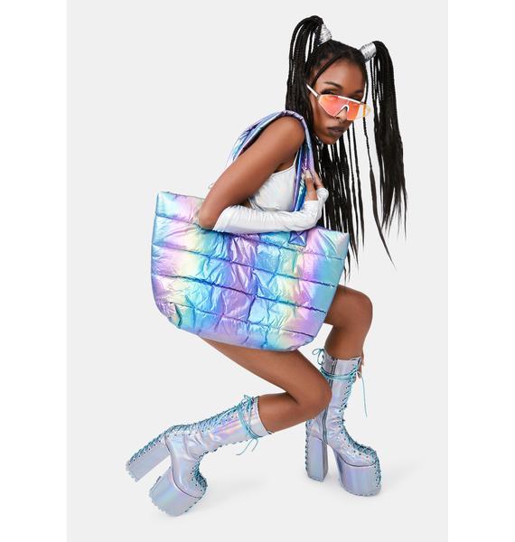 Current Mood Psycho Stimulation Puffer Tote Bag