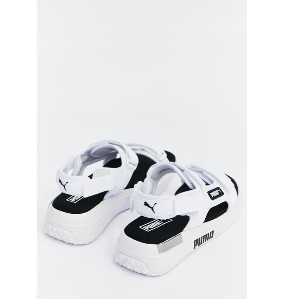 PUMA White Rider Sandals